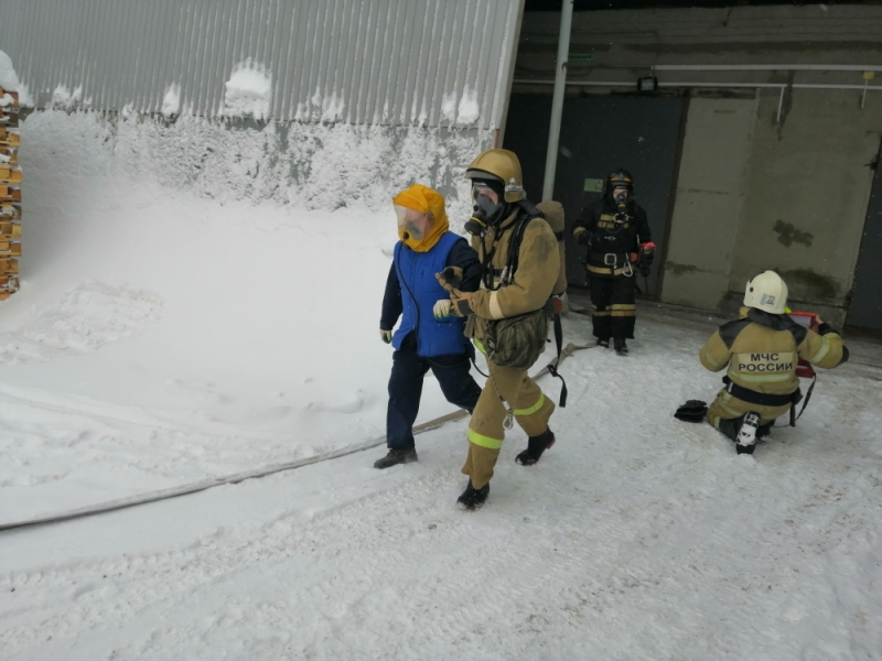 Пожарно-тактические учения на предприятии ЗАО «Можхим»