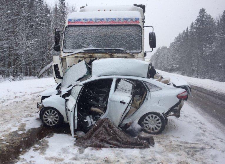 Водитель легковушки погиб в ДТП с «МАЗом» на трассе Ижевск-Можга